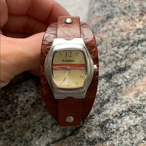 Fossil Watch Ladies, Brown Leather Band 💗🧡🤎